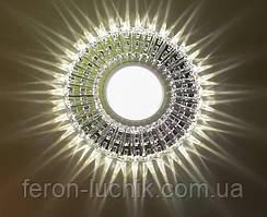 Встраиваемый светильник Feron 7312B с LED подсветкой потолочный Точечный
