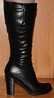 Женские высокие зимние сапоги на высоком каблуке, сапоги женские на высоком каблуке зима модель ЖС1Н2
