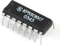 КР590КН7 DIP16 четырехканальный аналоговый ключ со схемой управления, двухполюсное переключение (2DPDT)