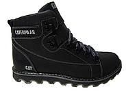 Мужские ботинки CAT натуральная кожа, мех Р. 40 42