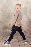 Брюки для мальчика джинсового типа синие 4-8 лет размер 98-128