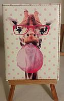 """Обложка (чехол) на паспорт """"жираф, жвачка"""""""