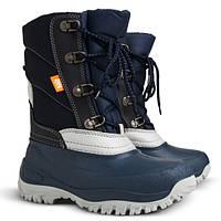 Зимние сапоги-сноубутсы Demar Mack синие р.25-35 для мальчиков на овчине