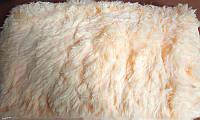 Пушыстое меховое покрывало - плед цвет персик
