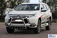 Mitsubishi Pajero Sport 2015+ Кенгурятник WT008