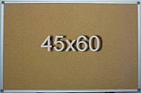 Пробковая доска 45х60 см