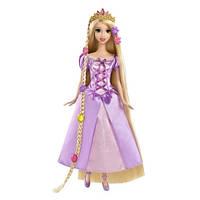 Кукла Рапунцель длинные волосы c растущей прядью и украшениями для волос