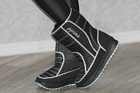 Сапожки дутики унты сноубутсы черные зимние женские модные.Экономия 105грн