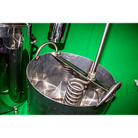 Дистиллятор-змеевик-холодильник – ЛЮКС Нержавеющий (Открытый, не проточный)
