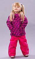 Зимний термокостюм для девочки 2-6 лет р. 92-116 (куртка и полукомбинезон) ТМ Be easy малиновый 2017RD4-039