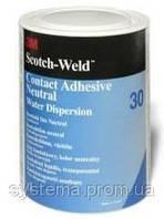 3M™ Scotch-Weld™ 30 - Контактний адгезив (клей) на водно-дисперсійної основі, білий/прозорий, 1 кг