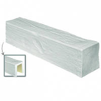 Балка потолочная декоративная DecoWood ED104 белая 4м, лепной декор из полиуретана