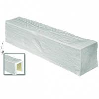 Балка потолочная декоративная DecoWood ED107 белая 3м, лепной декор из полиуретана
