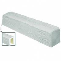 Балка потолочная декоративная DecoWood EQ004 белая 4м, лепной декор из полиуретана