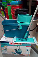 """Швабра полотер + ведро с ценрифугой """"Leifheit"""". Производитель Германия."""