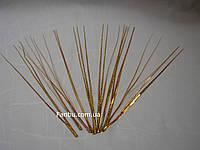 Искус.блестящая(золотая) 30см новогодняя трава(1 уп.-10 штук), фото 1