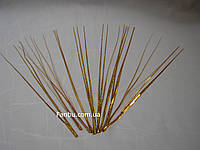 Искус.блестящая(золотая) новогодняя трава,h-30см (1 уп.-10 штук), фото 1