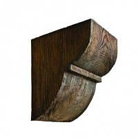 Консоль декоративная DecoWood ED015 темная, лепной декор из полиуретана