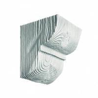 Консоль декоративная DecoWood EQ016 белая, лепной декор из полиуретана
