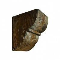 Консоль декоративная DecoWood EQ015 темная, лепной декор из полиуретана