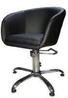 Парикмахерское кресло Клеопатра кожзам Неаполь-20 (чёрный)