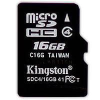 ☜Flash card Kingston 16 Gb microSDHC class10 высокая скорость передачи данных