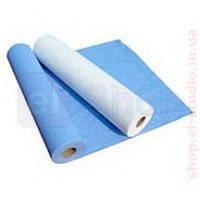 Простынь Malinki 0,6х100 (голубая, белая)