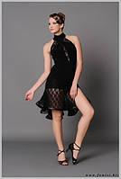 Юбка латина для танцев из гипюра на шортах «Забава»