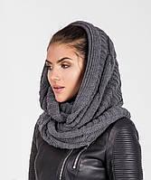 Стильный женский вязанный шарф-петля