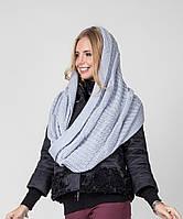 Красивый женский вязанный шарф-накидка