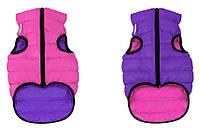 Курточка двухсторонняя Collar AiryVest, розово-фиолетовая, S 40 1581