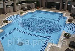 Мозаика для бассейна моноколор