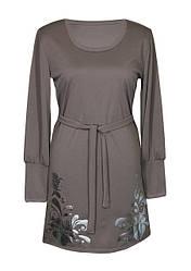 Платье с круглым вырезом Барвинок