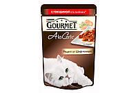 GOURMET A La Carte Консервы для кошек с говядиной a la Primavera в подливке с морковью, томатом и цуккини, 85 г