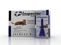 Inspector (Инспектор) капли против внешних и внутренних паразитов для котов до 4 кг (1 пипетка)
