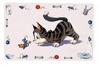 "Коврик под миску для еды ""Comic cat"" 44х28см"
