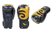 Перчатки боксерские Кожа Everlast (8oz, черный)