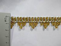 Тасьма декоративна люрекс золото срібло 1,7 см