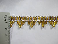 Тесьма декоративная золотая Тасьма декоративна люрекс золото срібло 1,7 см