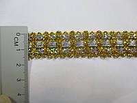 Тесьма декоративная Тасьма декоративна люрекс золото-срібло 1,7 см
