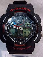 Часы наручные мужские CASIO G-SHOCK GA-100 1A4D красные