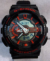 Часы наручные мужские CASIO G-SHOCK GA-110 черно-красные
