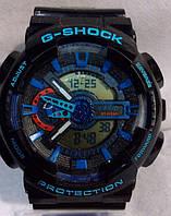 Часы наручные мужские CASIO G-SHOCK GA-110 черно-синие