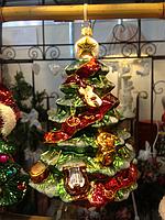 Елка стеклянная елочная игрушка ручной росписи элитный подарок на Новый год