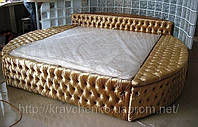 Кровать Декаданс. Кровать с мягким изголовьем под заказ в Киеве. Изготовление кроватей под заказ.