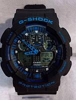 Часы наручные мужские CASIO G-SHOCK GA-100 черно-синие