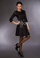Коктейльное платье с поясом черный, фото 1