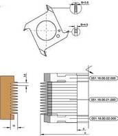 Фрезы для сращивания древесины по длине, с напайкой HM набираемые, без подрезки D150/160-d32-50-B3.8/4.5/12-z4