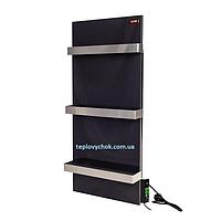 Керамічна електропанель з терморегулятором DIMOL Standart 07  з сушкою рушників графітова