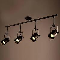 Светильник потолочный [ Spot tube black Loft ] (4 Lamp)